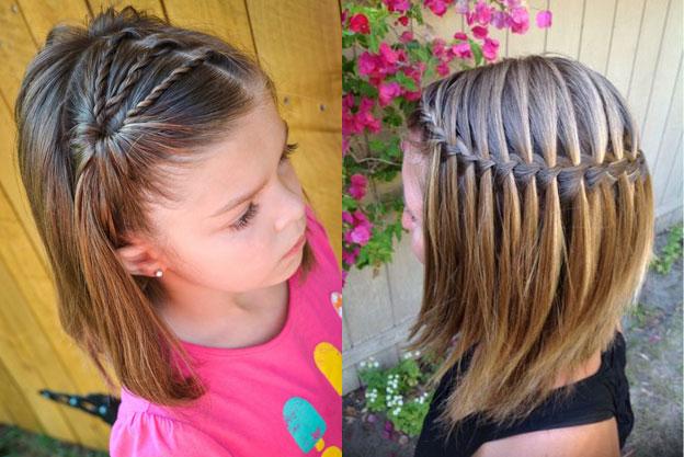 Причёски для коротких волос для девочек на выпускной в